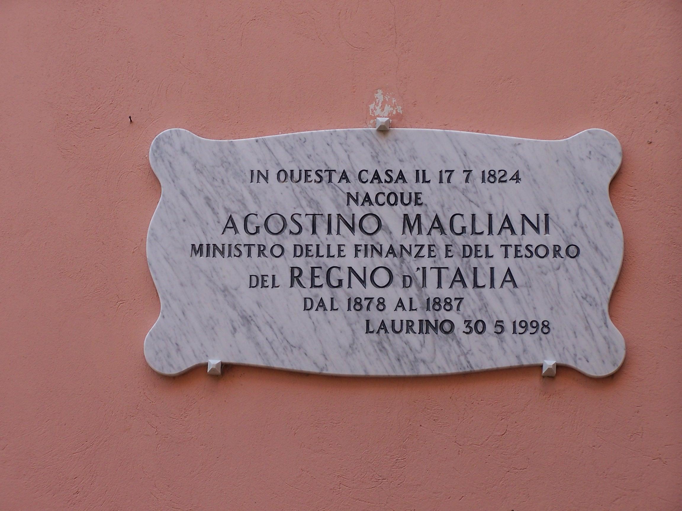 Casa A. Magliani - Targa commemorativa